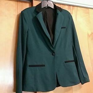 Mossimo Stretch Fabric Dark Green Blazer
